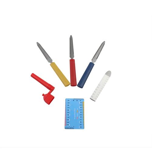 Kit strumenti Kit per riparazione liutaio chitarra con file in acciaio inossidabile righello avvolgitore stringa azione calibro