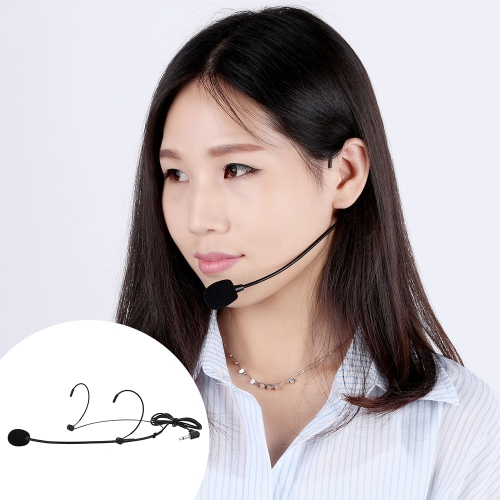 Uni-Directional Head-mounted Headworn Headset Ear-hook Microphone Mic Flexible Wired Boom for Voice Amplifier Amp Loudspeaker