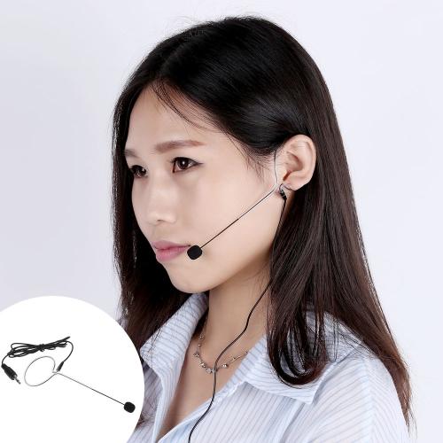 Uni-Directional Mini Ear-hook Headset Microphone Mic for Voice Amplifier Amp Loudspeaker