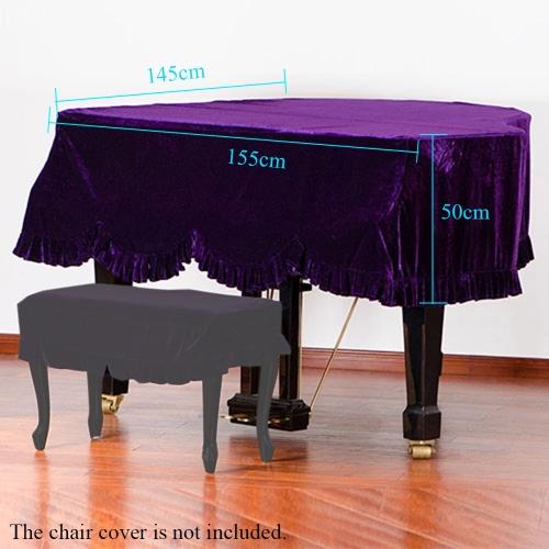 Grand Piano Pleuche Bordered Dust Protective Cover Cloth