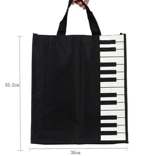 Andoer® Bolso Totalizador Bolsa de la Compra de Piano Keys Musical