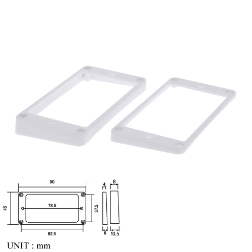 Plastic Mounting Rings for Humbuckers Curved White