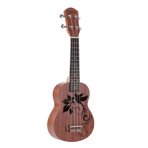 "21 ""Mini Sapele Ukelele Rosewood Fingerboard Mahogany Neck Nylon String matowy prezent dla dzieci"