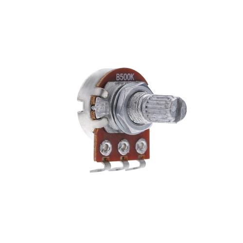 B500K Elektryczne Głośniki Kontrola głośności Potencjometr stożkowy 15mm Długi Shaft Knot Accessory
