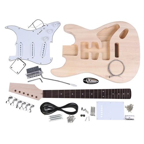 Andoer    ST様式   DIY   キットセット  エレキギター    ギター    指板:紫檀     本体:バスウッド製     頸部: メープル   音楽愛好者対応【並行輸入品】