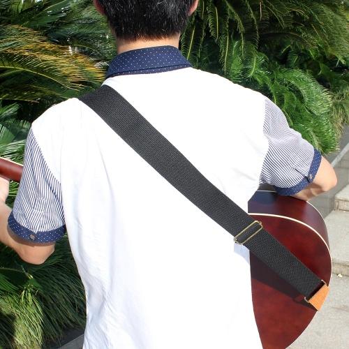 IRIN correa ajustable correa de guitarra de algodón tejida con cuero termina para Guitarra Folk Acústica eléctrico cómodo y Durable