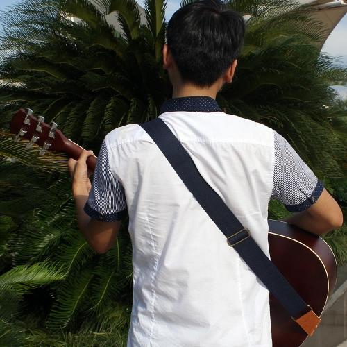 IRIN  ギター用 調整可能な ギターストラップ ベルト 7色選択可能  コットン織物 レザー アコースティックギター/フォークギター/エレキギター対応【並行輸入品】