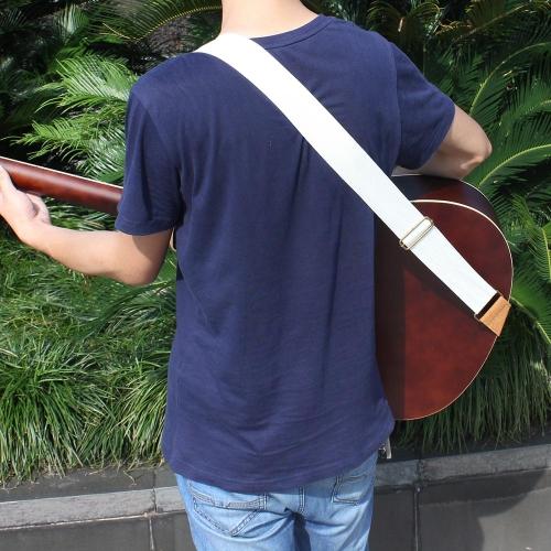 IRIN に調整可能なベルト革で編まれた綿ギター ストラップ終了電気音響の民俗ギターの快適で耐久性のあります。