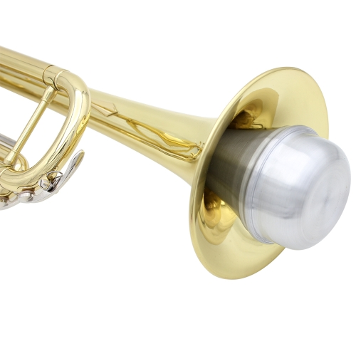 High Quality Trumpet Straight Mute Sourdine Aluminum Alloy Silver Color