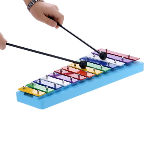 13 Bar Kid's Glockenspiel Xylophone Colorful Note of Educational Percussion Instrument Rhythm Toy for Baby Toddler Children
