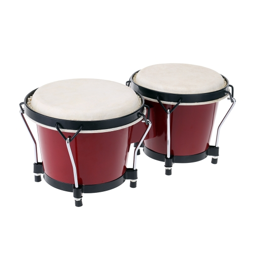 6 & 7 Inch Tunable Bongos Clear Finish Bongo Musical Instrument and Educational Musical Percussion Toy for Baby Kids Chidren