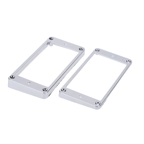 Chrome-Plated Plastic Guitar Pickup Frame Mounting Ring for LP Guitar Silver