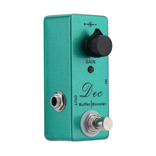 Dec Buffer Booster Electric Guitar Effect Pedal Mini Single Effect with Clean Boost True Bypass
