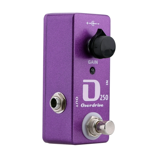 D250 Overdrive Electric Guitar Effect Pedal Mini Single Effect with True Bypass