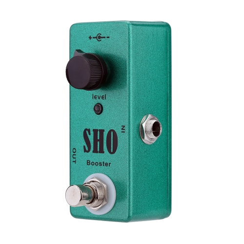 SHO Booster Electric Guitar Effect Pedal Mini Single Effect with Clean Boost True Bypass