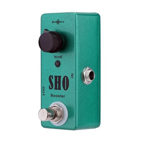 SHO Booster chitarra elettrica effetto pedale Mini singolo effetto con Boost pulito True Bypass