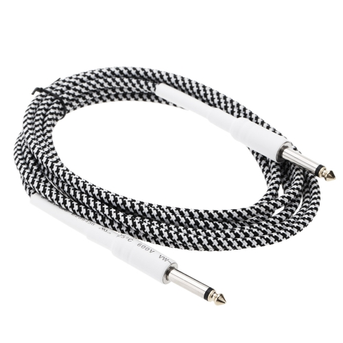 6.6ft / 2m 6.35mm Mono Male to 6.35mm Mono Male Cable Wire Cord for Guitar Bass Instrument