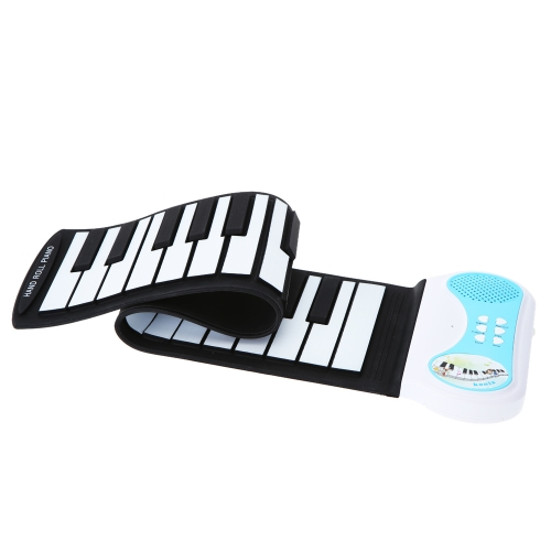 37 keys Portable Rubberized Flexible Silicon Roll-up Piano Keyboard Educational Instrument for Children Kids Students
