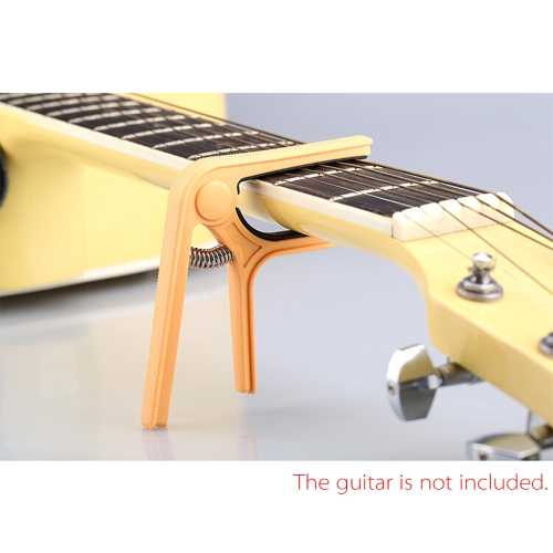 Andoer Single-handed Nylon Guitar Capo Tune Quick Change for Acoustic Classical Electric Guitar Ukulele and Bass Color Randomly Delivered