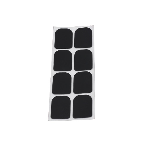 0.3mm 8pcs Black Rubber Soprano Saxophone Sax Clarinet Mouthpiece Patches Pads Cushions