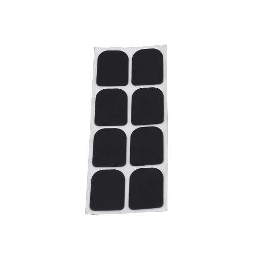 8pcs 0.8mm Black Soprano Saxophone Sax Clarinet Mouthpiece Patches Pads Cushions