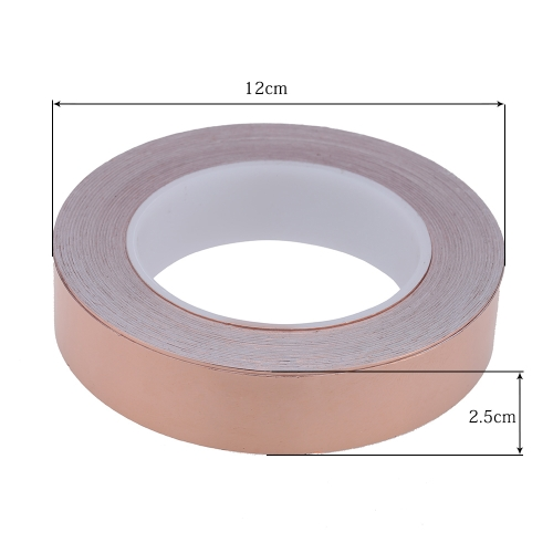 25mm * 30m One Side Copper Foil Tape EMI Shielding Single Conductive Adhesive for Guitar