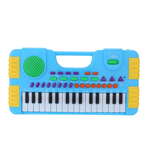 31 Keys Multifunction Mini Electronic Keyboard Music Toy Educational Cartoon Electone Gift for Children Kids Babies Beginners