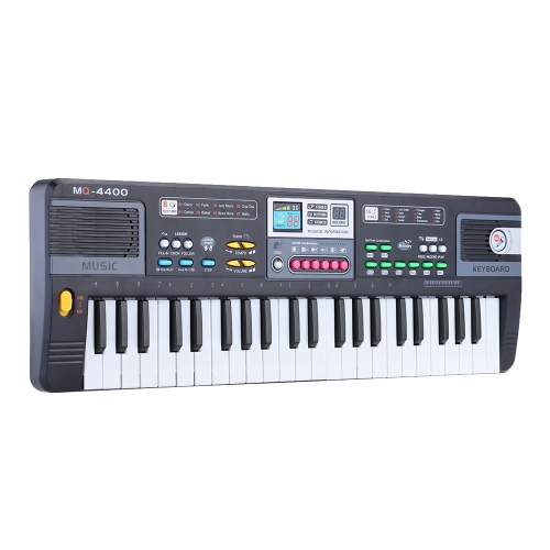 44 Keys Multifunctional Electronic Keyboard Music Toy with Microphone Educational Electone Gift for Children Kids Babies Beginners