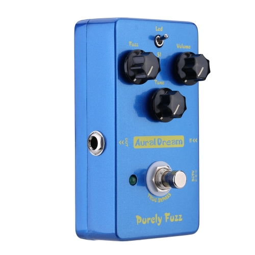 Aural Dream Pruely Fuzz Electric Guitar Effect Pedal Smart Single Effect with True Bypass