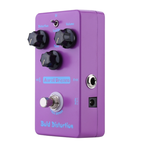 Aural Dream Bold Distortion Electric Guitar Effect Pedal Smart Single Effect with True Bypass