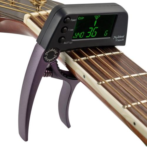 Meideal TCapo20 Quick-Change wichtige Capo Tuner Legierung Material für Gitarre Bass chromatisch