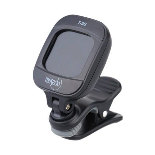 Musedo T-5S Rotatable Backlight LCD Portable Mini Electronic Digital Clip-on Tuner for Chromatic Guitar Bass Ukulele Violin