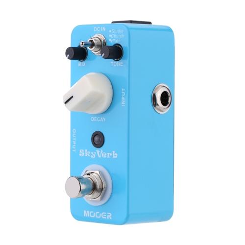 Mooer Sky Verb Micro Mini Pedał Głośności Reverb dla Gitary Elektrycznej True Bypass