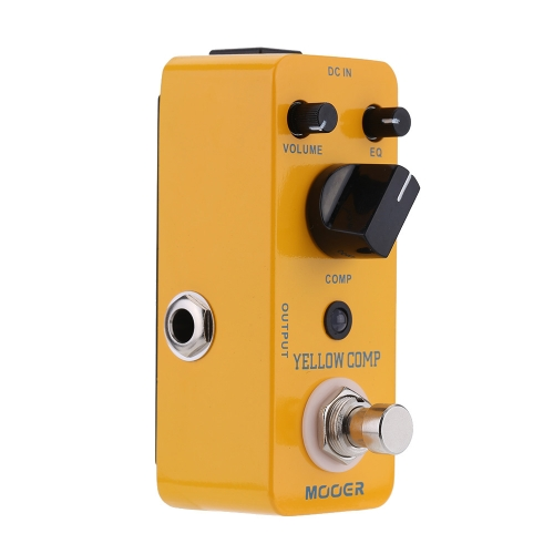 Mooer Yellow Comp Micro Mini Optical Compressor Effect Pedal for Electric Guitar True Bypass I1490