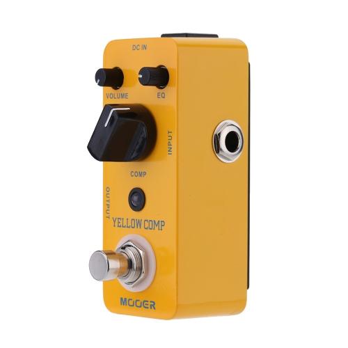 Mooer 黄色コンプ マイクロ ミニ光学式コンプレッサー効果エレキギター トゥルー バイパスのペダル