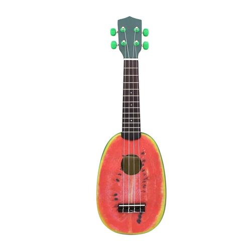 """21 """"Ukelele 4 Strings Kolorowy Uroczy Arbuzowy Gitara Basowa Stringed Musical Instrument"""