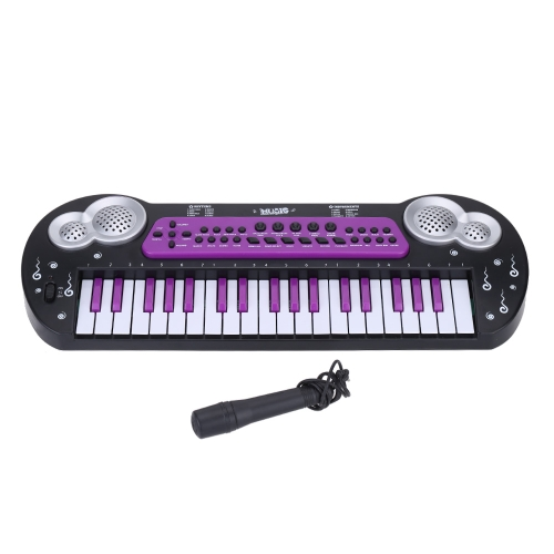 37 Keys Multifunctional Electronic Music Keyboard Piano Organ with Microphone Electone Toy for Babies Kids