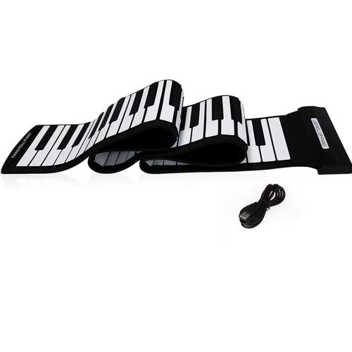 USB 88 Keys MIDI Roll up Electronic Piano Keyboard Silicone Flexible Professional