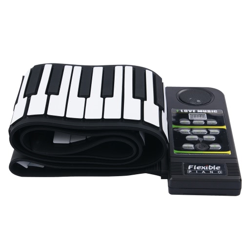 88 Key Electronic Piano Keyboard Silicon Flexible Roll Up Piano with Loud Speaker фото
