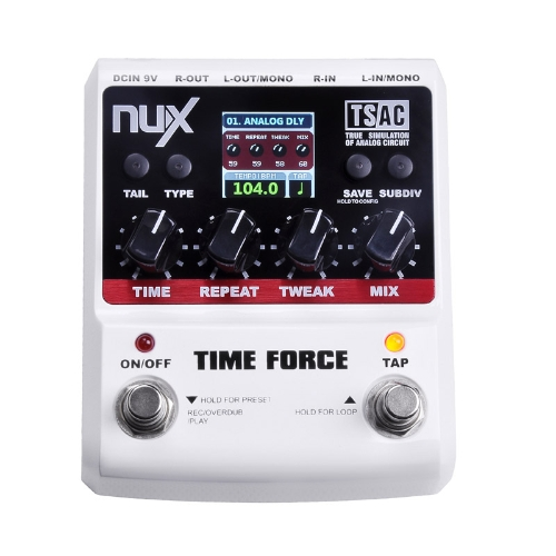 NUX TIME FORCE Guitar Effect Pedal Multi Digital Delay 11 Delay Effects