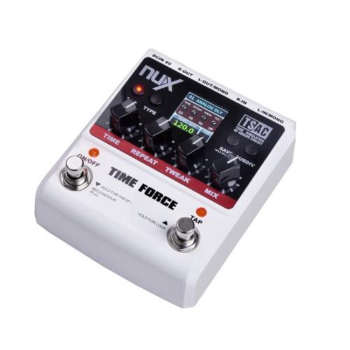 nux time force guitar effect pedal multi digital delay 11 delay effects. Black Bedroom Furniture Sets. Home Design Ideas