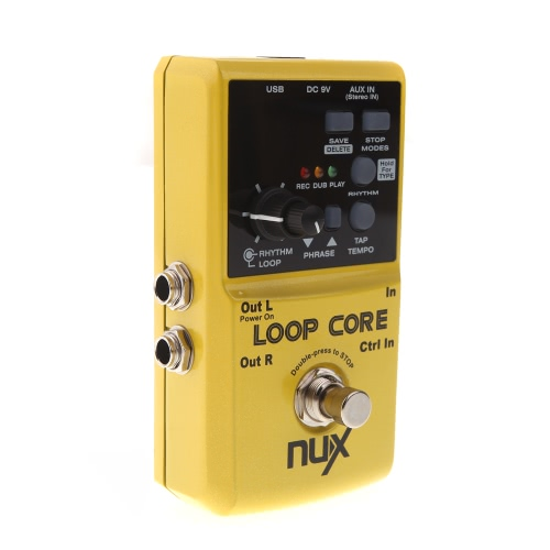 ammoon Loop Core Guitar Electric Effect Pedal 6 Hours Recording Time Built-in Drum Patterns