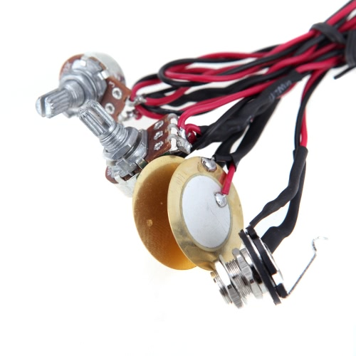 Homeland Dual Piezo Pickup Pick-up 6.35mm Jack with Volume Tone Control for Acoustic Guitar Ukulele
