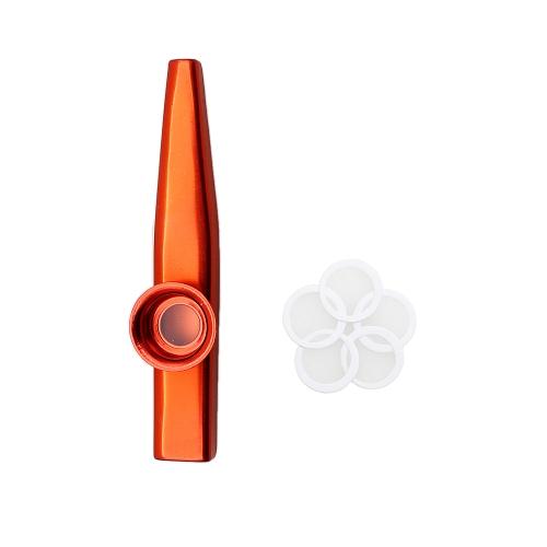 カズー アルミニウム合金金属 5 個セット フルート ダイヤフラム ギフト子供音楽愛好家のための