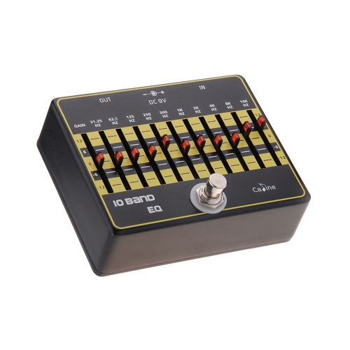 Caline CP-24 10-Band EQ Ecualizador Pedal de Efectos de Aleación de Aluminio True Bypass para Guitarra