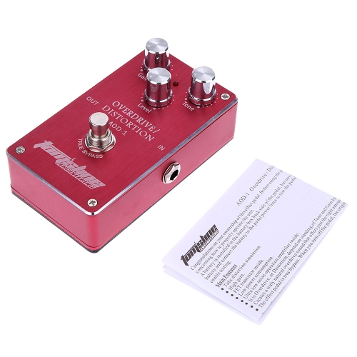 Aroma AOD-1 Overdrive Distortion Electric Guitar Effect Pedal Aluminum Alloy Housing Ture Bypass