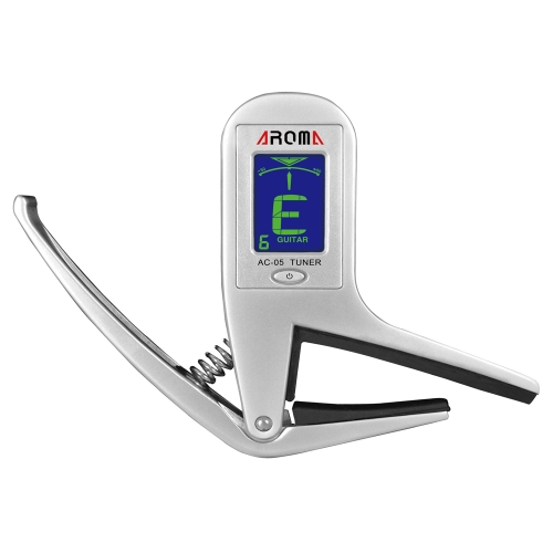 Aroma AC-05 Clip-on Guitar Tuner & Capo 2-in-1 for Guitar Bass Chromatic Multifunction Universal Exquisite Portable