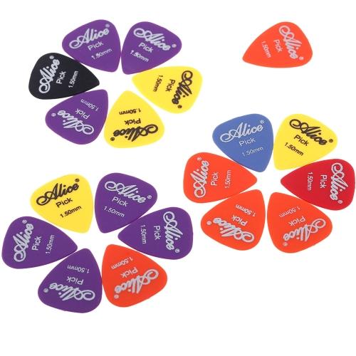 Alice AP-F 20pcs 1.5mm Frosted Matte Nylon Guitar Picks Plectrums