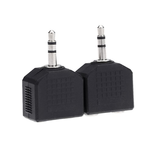2-1 のオーディオ ステレオ スプリッターのペアはヘッドフォン マイクのアダプター変換プラグ ソケット カプラー 3.5 ミリメートル男性 3.5 mm 2 女性をジャックします。