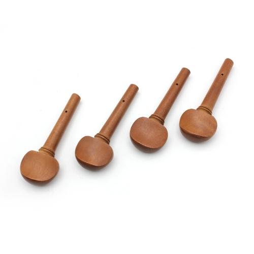 4pcs dimensioni 4/4 violino violino Tuning Set pedane giuggiola legno sostituzione in legno per violino 4/4 dimensioni